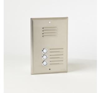 Stainless Steel Entry Panel - Flush Mounted to RH4 Back Box or PRL Plaster Ring