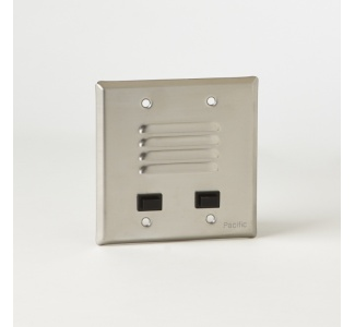 Stainless Steel Entry Panel - Flush Mounted to Two-gang Electrical Box